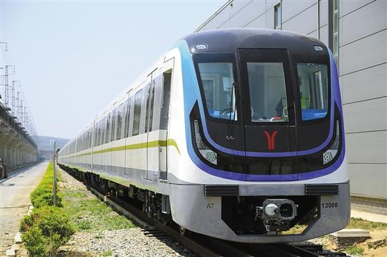 广州地铁13号线列车-8节车厢 广州地铁最大运量列车昨日交付图片