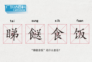 """广东话百科:睇餸食饭(""""睇餸食饭""""是什么意思?)"""